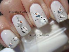 disney nails for kids Disney Frozen Nails, Frozen Nail Art, Olaf Frozen, Toe Nail Art, Toe Nails, Holiday Nails, Christmas Nails, Olaf Nails, Nail Art For Kids