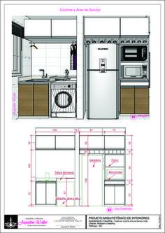 Cozinha e Serviço- Medidas                                                                                                                                                                                 Mais
