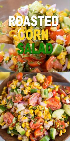 Fresh Roasted Corn Salad is packed with sweet corns, cucumber, tomato, onion and tossed in a lemony dressing. Charred corn ads a lot of flavour to the salad. This quick salad is a perfect side dish in summer BBQs or for potlucks. Side Dishes For Bbq, Summer Side Dishes, Side Dish Recipes, Side Dish With Fish, Side Dishes For Fajitas, Side Dishes With Burgers, Sides For A Cookout, Sides For Fish Tacos, Bbq Chicken Side Dishes