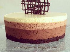 Ricetta Dessert : Torta mousse ai tre cioccolati da Tebianda