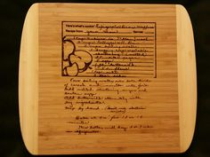 Custom engraved cutting board for Elizabeth from 3DCarving on Etsy