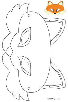 Easy manual activity, a fox head mask to cut # easy DIY idea, do it yourself, do it yourself, do it Felt Crafts, Diy And Crafts, Arts And Crafts, Paper Crafts, Sewing For Kids, Diy For Kids, Crafts For Kids, Fox Coloring Page, Coloring Pages
