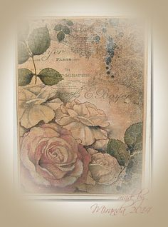 'Mir'acle Art Inspirations: Just like a painting.........roses......and more roses........