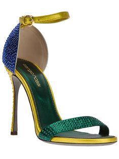 Sergio Rossi Strappy Sandal in Multicolor