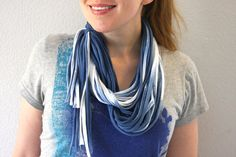 Dyed Loop Scarf | Community Post: 28 Tie Dye DIYs That Won't Remind You Of Jerry Garcia