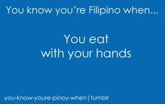I actually eat with a spoon. but if it's chiggen i eat wid mah hands xzd Filipino Humor, Filipino Food, Funny Quotes, Funny Memes, Jokes, Asian Quotes, Memes Pinoy, Asian Problems, Asian Humor