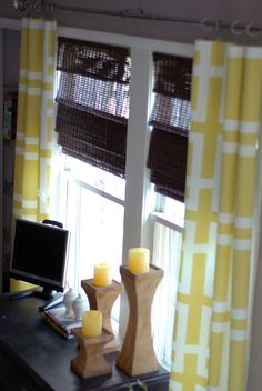 DIY no sew curtains.