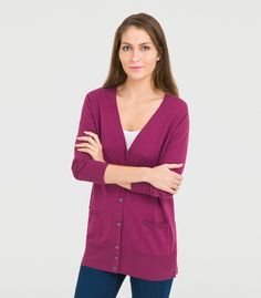 We have a superb selection of cardigans for women. From our super-soft cashmere to our slinky merino, there's always something for that everyday outfit. V Neck Cardigan, Long Cardigan, Diana Fashion, Knit Jacket, Cotton Silk, Everyday Outfits, Cardigans For Women, Cashmere, Blazer