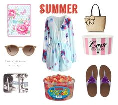 """""""Summer"""" by emirica ❤ liked on Polyvore featuring Chicwish, FitFlop, GreenGate, Kate Spade and Ray-Ban"""