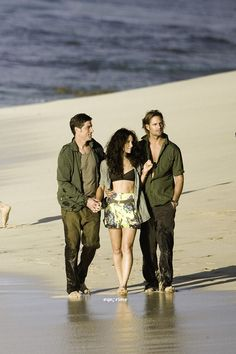 Vanity Fair Candids BTS with Josh Holloway, Evangeline Lilly and Matthew Fox