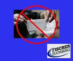 """DON'T flush those baby wipes down the toilet, even if they say they are flushable! So- called """"flushable"""" wipes have been wrecking havoc on sewer systems all across the nation, not to mention home plumbing systems as well. Prevent the problem, just throw those wipes away! #FischerPlumbing"""