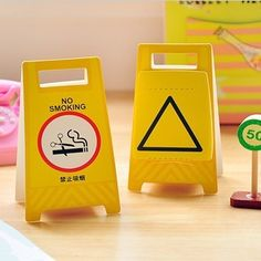 Free Shipping Novelty Yellow Warning Board Memo Notepad,Note Book&Memo Pad,Sticky Notes Memo Set,Gift Stationery Wholesale $9.59