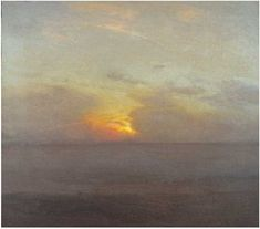 "Gillian Pederson-Krag, Seascape, Oil on Canvas, 16"" x 18"", 1983 Collection: David Benn, Stevenson, MD"