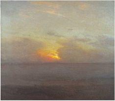 "Gillian Pederson-Krag, Seascape, Oil on Canvas, 16"" x 18"", 1983 Collection: David Benn, Stevenson, MD"