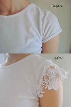 DIY t-shirt makeover      Δείτε πως μπορείτε να δώσετε νέα πνοή σε ένα απλό άσπρο μπλουζάκι....