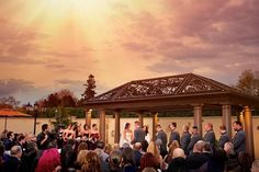 Outdoor ceremony space at Larkfield