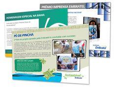Jornal Mural Embratel - Publicação semanal produzida para os funcionários da empresa.