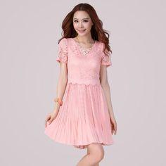 Amazon.co.jp: (アンフィニ) infini 半袖ドレスワンピース ピンク ブラック LL 3L 4L 5L 大きいサイズ: 服&ファッション小物