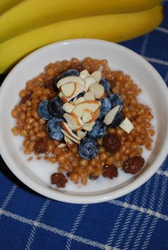 wheatberry breakfast in crockpot overnight. I've never had wheat berries but this looks so good!