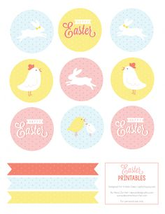 Easter Party Printables!  Perfect for parties, easter egg hunts and family dinners!  Capturing-Joy.com