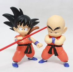 Dragon Ball Action Figures: Son #Goku and #Krillin #dragonball #actionfigures