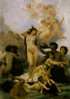 """The Birth of Venus""   Adolphe-William Bouguereau (1825-1905)"