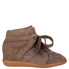 Isabel Marant Bobby Wedge Sneakers Isabel Marant Bobby, Bootie Boots, Ankle Boots, Bobby S, Green Suede, Luxury Shop, Wedge Sneakers, Wedges, Booty