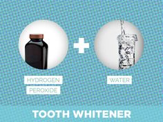 Hydrogen Peroxide + Water = Tooth Whitener  #beautytips #beauty #tips