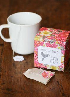 mon ampersand: DIY : Boîte à thé « Parenthèses Bien-être »