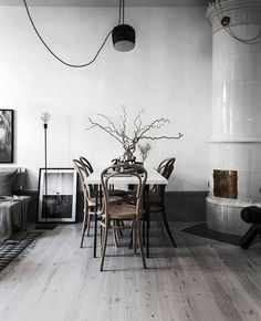 scandinavian instagrams to follow white dining room with dining table
