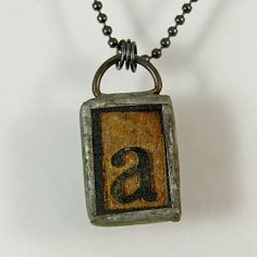 Letter A Pendant Necklace by XOHandworks $25