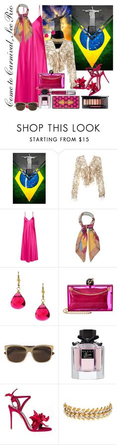 """Come to Carnival (casual)"" by daincyng ❤ liked on Polyvore featuring WithChic, E L L E R Y, Hermès, Charming Life, Charlotte Olympia, Gucci, Aquazzura, Elizabeth Cole, Urban Decay and Brazil"
