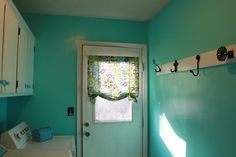 Pretty blue laundry room @Pam Cremer