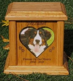 Heart Photo Pet Urn Made Of Red Alder Fits Up to 81 Lbs Includes Shipping Pet Headstones, Pet Caskets, Pet Grave Markers, Pet Memorial Stones, Pet Urns, Paws And Claws, Photo Heart, Baby Puppies, Wooden Hearts