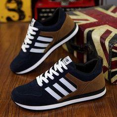 online retailer fa8ae d9f4e Adidas - navy blueblack Adidas with white stripes and nubucktan backs