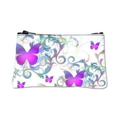 Elegant butterfly Swirls Coin Purse  A gorgeous butterfly pattern with colorful swirls  $28.69