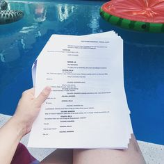 Summer Sundays are for friends, pools, and scripts ☀️ #BestFriends #Summer2017 #Poolside #Michigan #TheatreLife #Script #ScriptReading #Plan9 #Plan9FromOuterSpace #ColonialSanders #TheBarnTheatre #BarnTheatre #TheBarn
