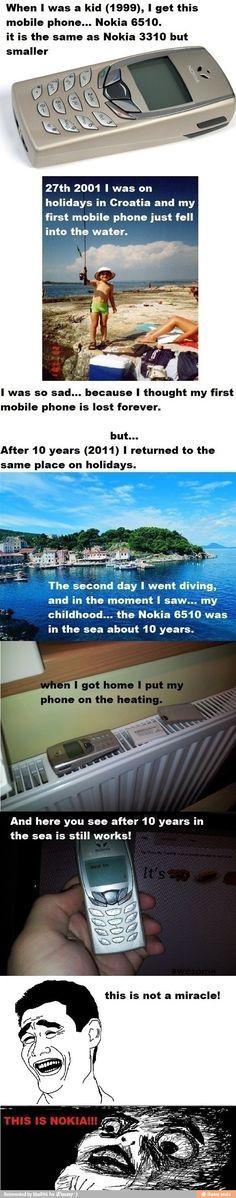 La leyenda del Nokia que resurgió de las profundidades...