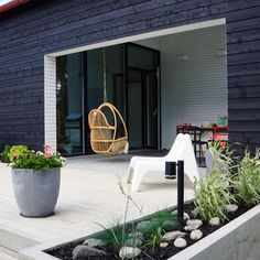 Outdoor living area. Nordic garden design, designed by Green Idea