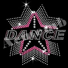 AB 6 SMALL STARS Iron On Hotfix Rhinestone Diamante Transfer Motif DANCE GYM