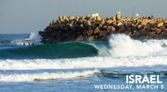 This Israel! Insane! Apparently swell like this only happens two - five times a year, but how good does it look!?