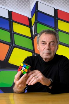 HAPPY BIRTHDAY to ERNO RUBIK! 7 / 13 / 19 Hungarian inventor, architect and professor of architecture. He is best known for the invention of mechanical puzzles including Rubik's Cube Rubik's Magic, Rubik's Magic: Master Edition, and Rubik's Snake. Rubik Snake, Rubiks Cube Algorithms, World Thinking Day, Cube Puzzle, People Of Interest, Life Plan, Human Condition, Public Speaking, Learning Tools