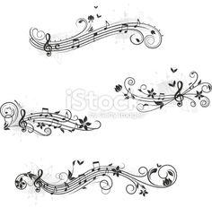 Note de musique, Papillon, Portée musicale, Partition musicale, Fl