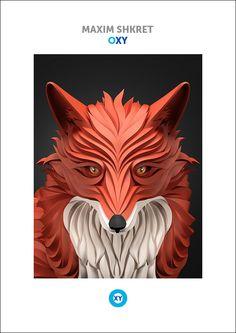 MAXIM SHKRET Animal Illustration Oxyillustrationsorange - Fascinating 3d renderings of people and animals by maxim shkret