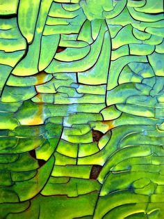 Mosaic from cracked & flaking paint on rail car - ©The Joy Of The Mundane - www.flickr.com/photos/mundane_joy/2316913491/#