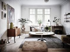 Scandinavian living room design for best home decoration 13 ⋆ Main Dekor Network Living Room Designs, Living Room Decor, Dining Room, Style At Home, Living Room Scandinavian, Vintage Apartment, Gravity Home, Swedish House, Contemporary Home Decor