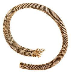 Elegantes Goldarmband Deutsch Ende 20. Jh. GG 14 Kt. Umlaufend konkaves Milanaiseband. L. 18,5 cm.