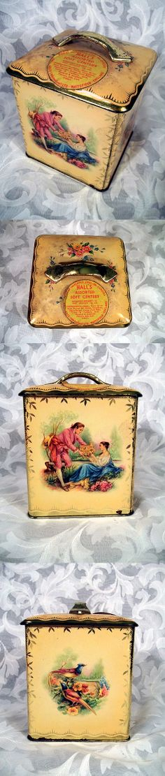 $29.99 or best offer Vintage Hall's Assorted Soft Center English Candies Tin Hall Bros Whitefield Ltd Made in England
