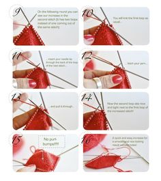 knittingtherapy — The kfb increase without the purl bumps! Yes... there is a way...