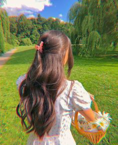 Hair Inspo, Hair Inspiration, Korean Girl Photo, Princess Aesthetic, Aesthetic Hair, Dream Hair, Pretty Hairstyles, Girl Photography, Hair Looks